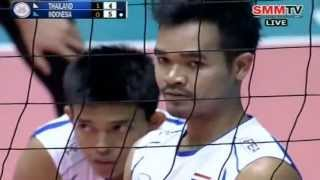 Repeat youtube video Thailand - Indonesia [Set 2] Qualifier Men's World 28-06-2013