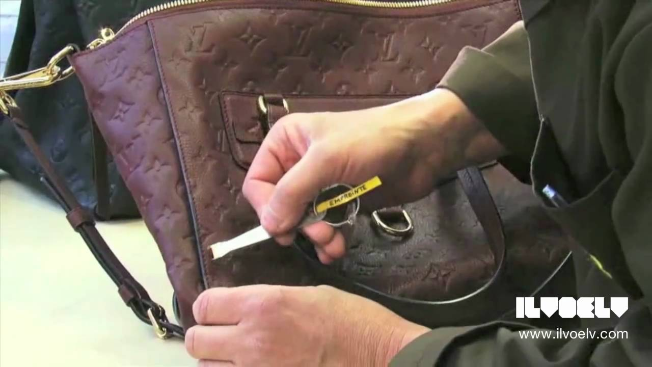 b8b4e3bf70d4 Creating the Louis Vuitton Monogram Empreinte Bags - YouTube