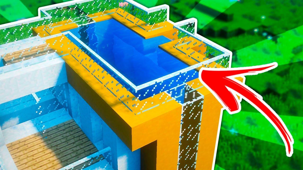 Minecraft c mo construir una casa moderna con piscina en for Tirol en techos de casas
