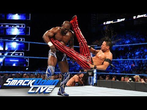 AJ Styles & Shinsuke Nakamura vs. Chad Gable & Shelton Benjamin: SmackDown LIVE, April 3, 2018 thumbnail