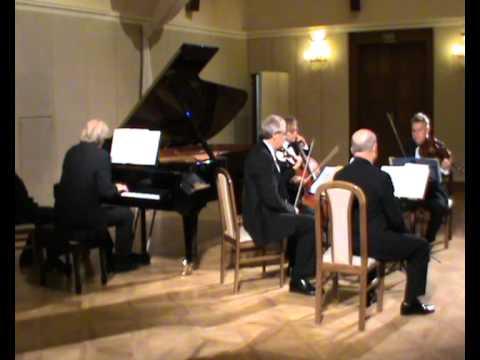 Schumann Piano Quintet op. 44 I. Allegro brillante. Stamic Quartet/Ivo Kahanek Live.