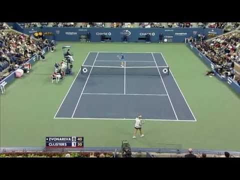 Kim Clijsters vs Vera Zvonareva - US Open 2010 (Quick Highlights)