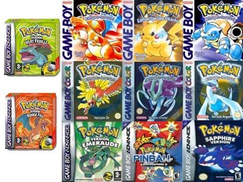 Top 5 Mejores Juegos De Pokemon De Gameboy Evans Marin Youtube