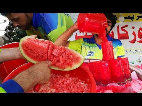 Amazing Watermelon Cutting Skills | Watermelon Juice in Summer | Street Food of Karachi Pakistan