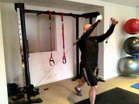 Standing Cable Incline Chest Press Youtube