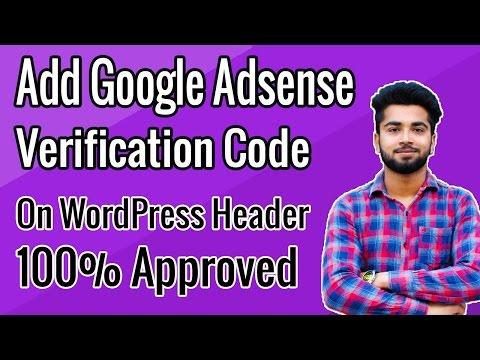 How To Place Google Adsense Verification Code In WordPress | Full Tutorial In Hindi - 2017