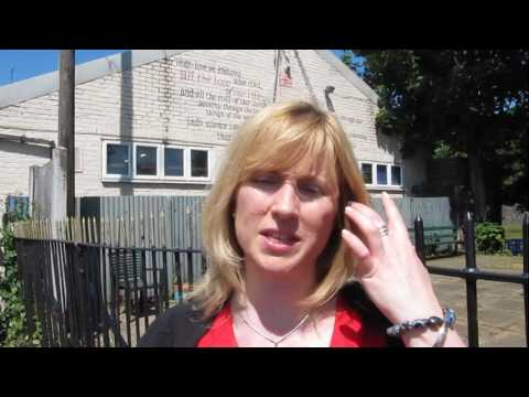 Rosie Duffield visits homeless charity Catching Lives