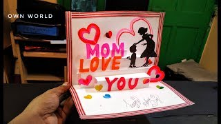 Beautiful Mother's day Greeting Card Idea | mother's day POP-UP card |mother's day card!