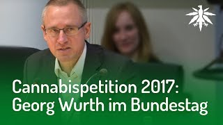 Cannabispetition 2017: Georg Wurth im Bundestag