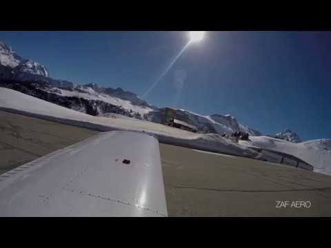Atterrissage à COURCHEVEL pour une journée de ski.