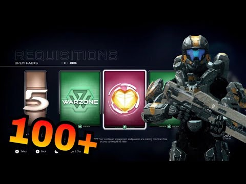 Opening 100+ Req Packs in Halo 5: Guardians