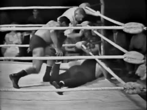 """1960's TV wrestling from Buffalo, NY John & ChrisTolos, Ilio DiPaolo, Billy """"Red"""" Lyons"""