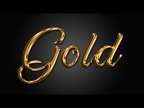 How To Create Gold Text In Photoshop | Photoshop Text Effects 2019