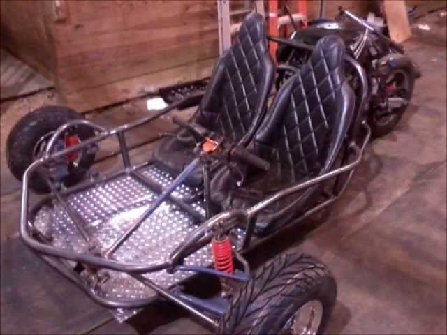three wheel motorcycle reverse trike scorpion