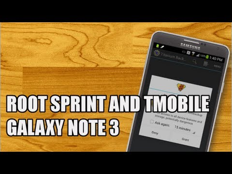 Видео, How to root Samsung Galaxy Note 3 Sprint and T-Mobile root