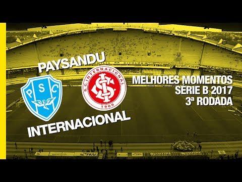 Melhores Momentos - Paysandu 1 x 0 Internacional - Série B - 27/05/2017