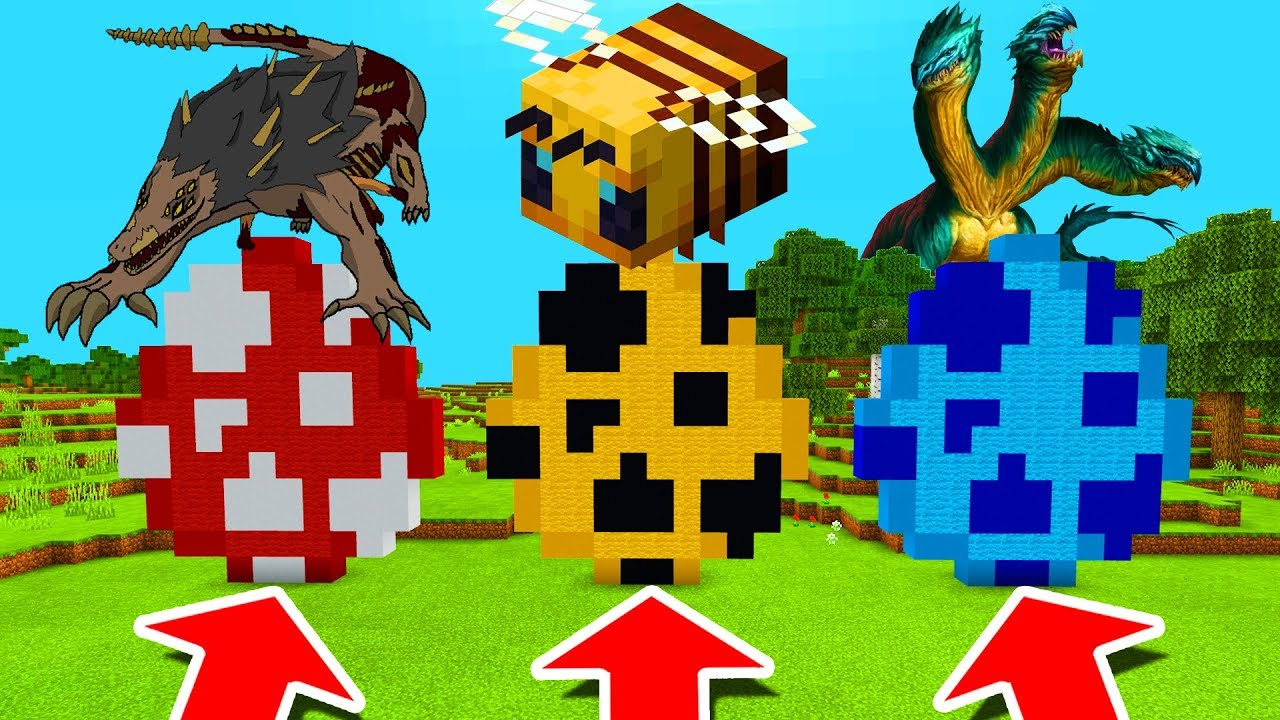 Minecraft PE : DO NOT CHOOSE THE WRONG SPAWN EGG (SCP 682 Bees