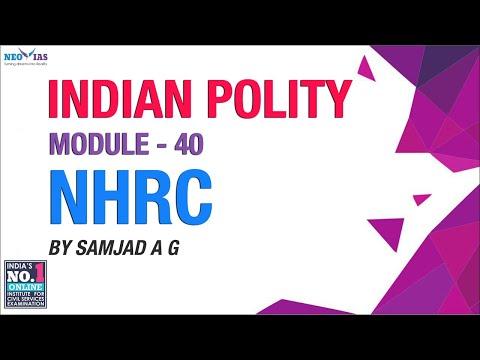 NHRC | Module  40 | Indian Polity | NEO IAS