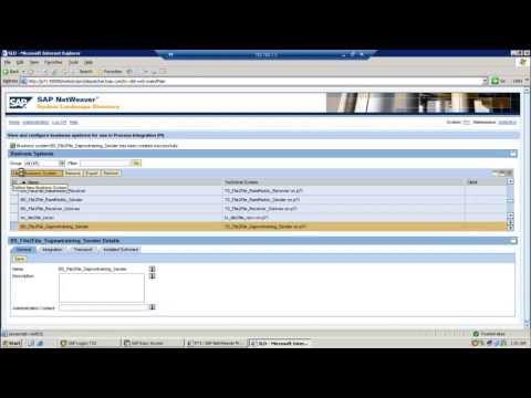 SAP PI Online Training : File 2 File Scenario / XML 2 XML System Landscape Directory Scenario