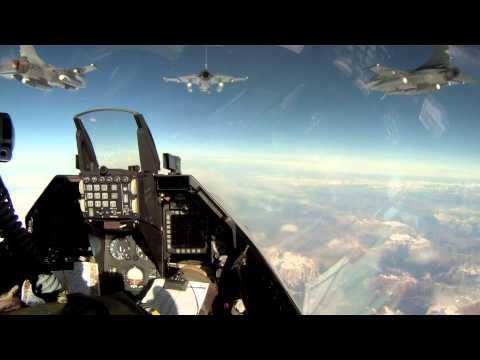 F-16 Flyver Hjem Til Danmark Efter Endt Opgave I Libyen