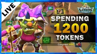 SPENDING 1200 TOKENS LORDS MOBILE - MISTER BP GAMING