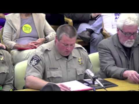 Another Sheriff Speaks Out Against Gun Control