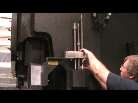 Standard Industrial Model AB Press Brake Operation