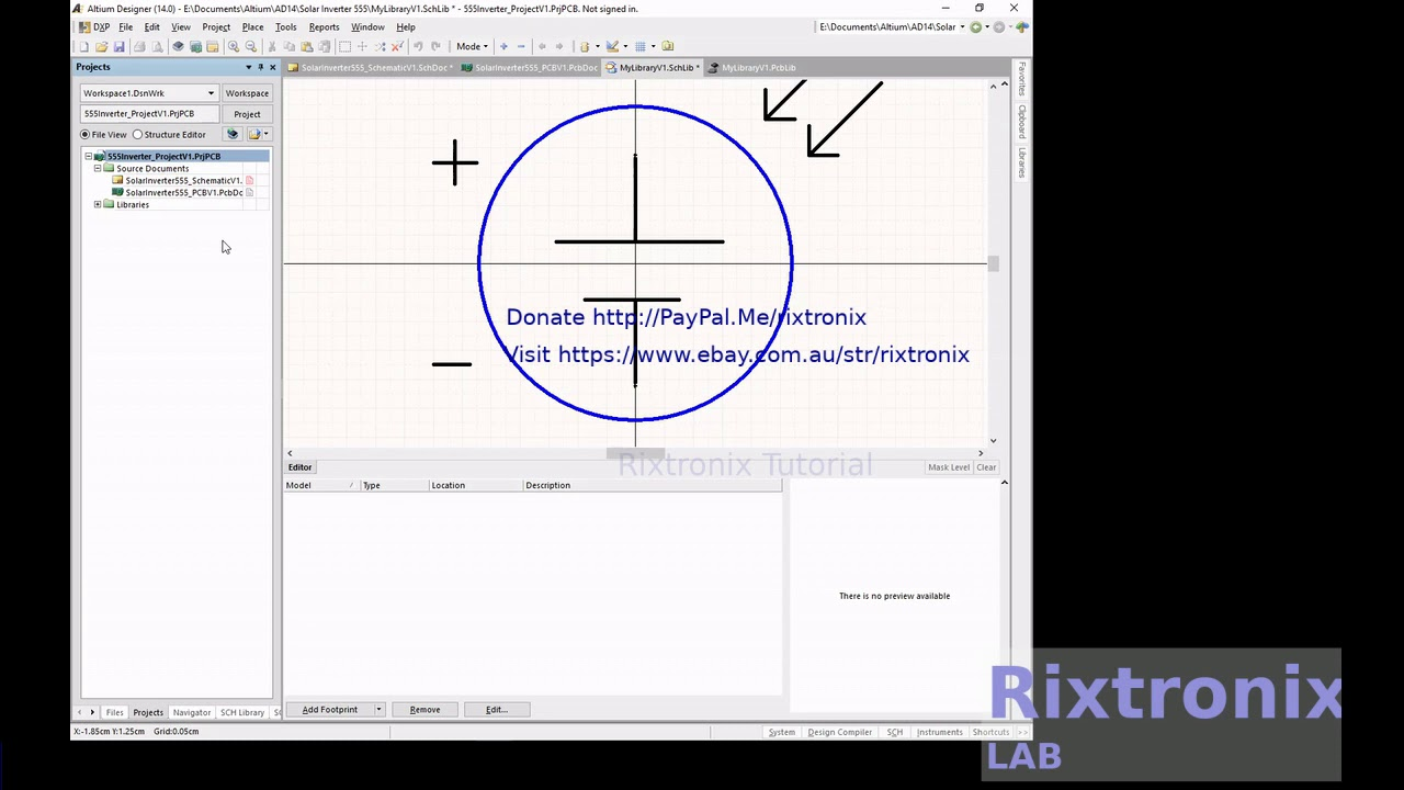 Tutorial For Altium Designing Solar Cell Symbol 2 Pins Schematic And Footprint