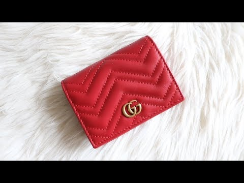 3e2187a66118 GUCCI GG MARMONT CARD CASE || REVIEW - YouTube
