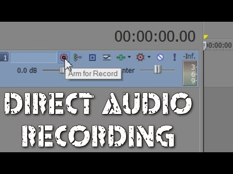 Sony Vegas: Recording sound directly into your timeline