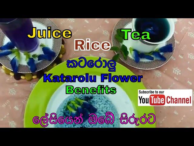 Benefits of Katarolu Flower - කටරොලු මල් වල ගුණ ලේසියෙන් ඔබේ සිරුරට
