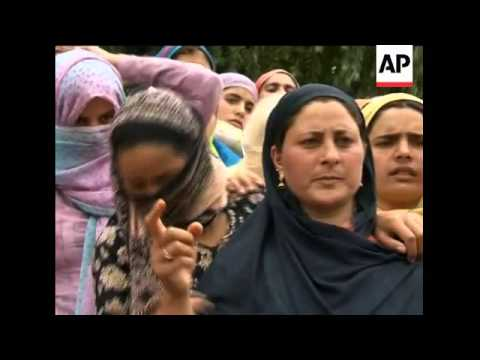 Protester killed in firing in Kashmir, funeral