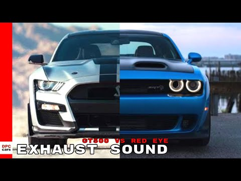 2020 Mustang Shelby GT500 vs Dodge Challenger Red Eye Exhaust Sound