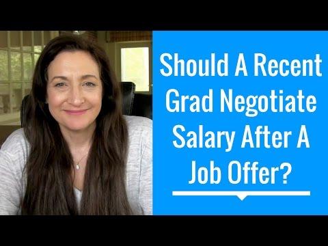 Should A Recent Grad Negotiate Salary After Getting A Job Offer?  #HelpMeJT