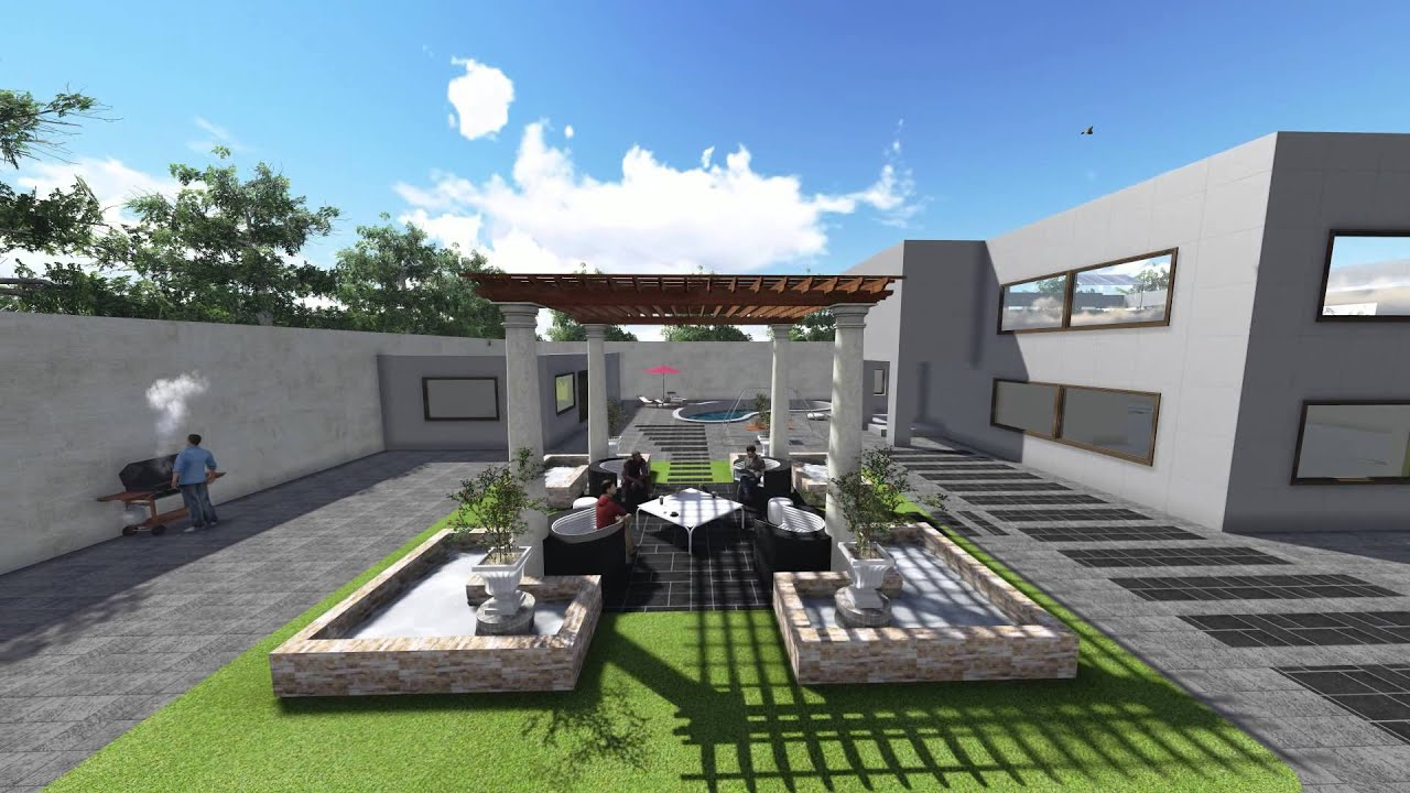 Exterior house hd render by lumion 3 0 1 youtube - Painting exterior render model ...