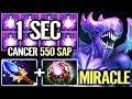 WTF Cancer 1s Brain SAP MIRACLE POS 3 Bane 550 HP 1 Hit Crazy Imba Pro Dota 2 Gameplay Miracle-
