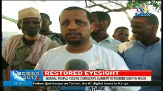 Several people receive corrective surgery to restore sight in Wajir
