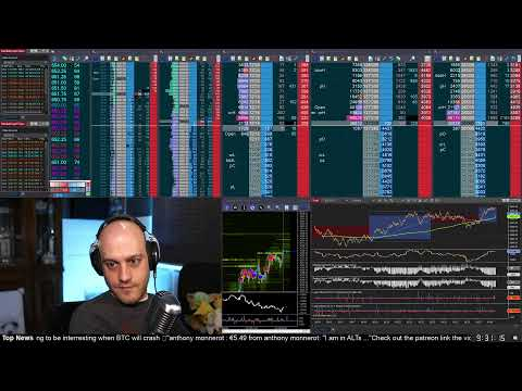 Catching The Knife As S&P500 Drops 100 Points.  Day Trading Futures Livestream. 21 Dec 2020