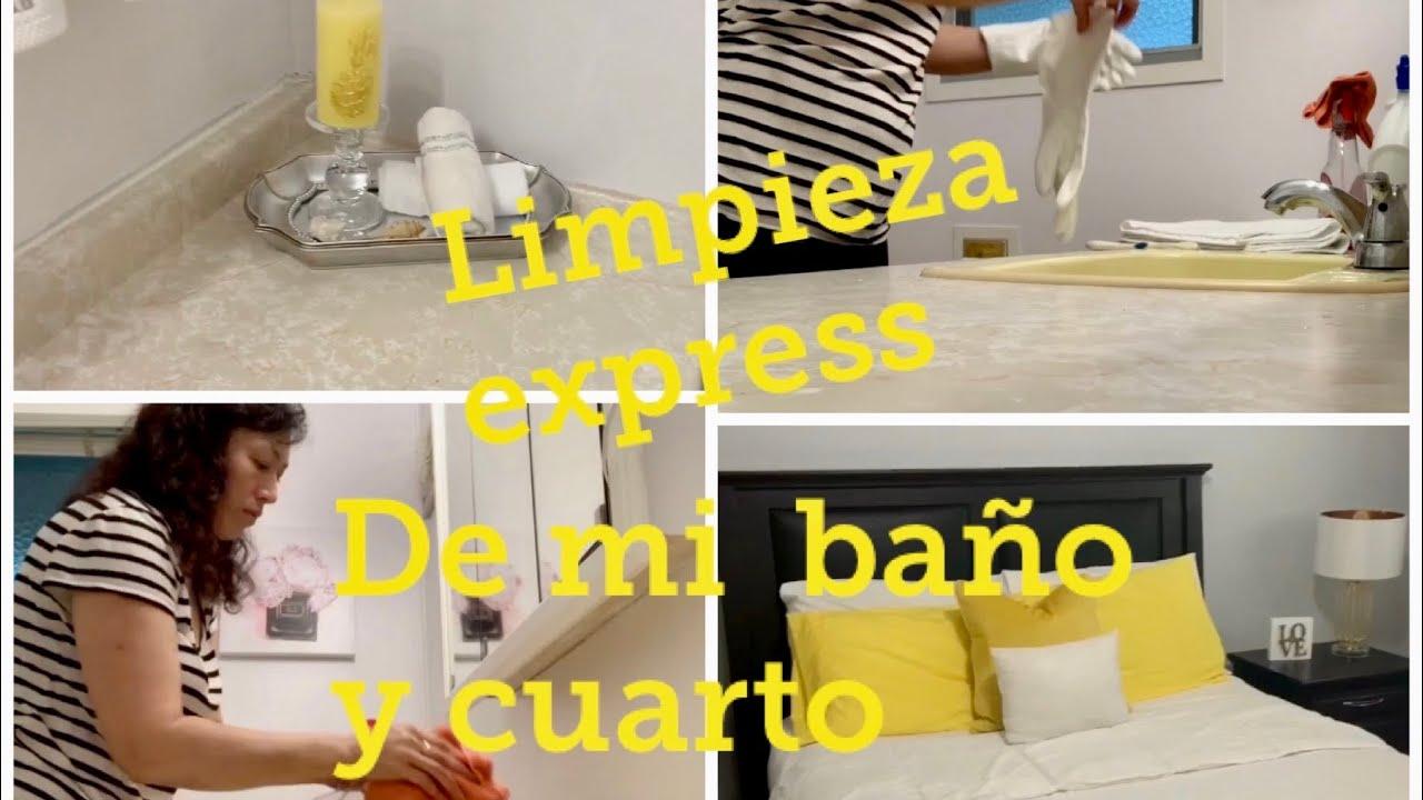 Limpieza Express de mi baño y cuarto en verano - YouTube