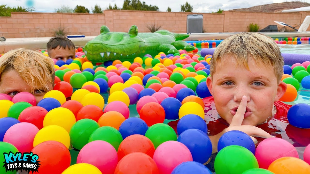 We Filled our POOL with Ball Pit Balls!