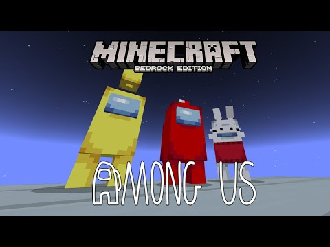 New Among Us In Minecraft Mcpe Be Add On Map Youtube