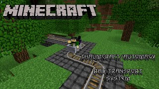 Thaumcraft/Automagy Rail Transport System