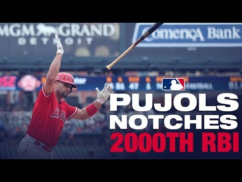 Pujols notches 2,000th RBI