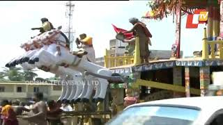 Bahuda Yatra 2020-Lord Jagannath's Nandighosa Chariot Being Pulled Towards Srimandir