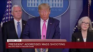 President Trump says five people dead at Milwaukee Molson Coors shooting