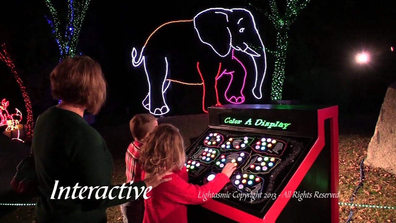 Interactive Christmas Light Display By Lightasmic Youtube