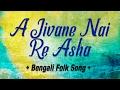 A Jivane Nai Re Asha | Asol Manush Jai Na Dekha | Bengali Folk Songs - Baul | Madhusudan Bayragya