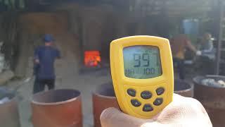 백탄참숯 정말 1200도 온도까지 올라갈까? 온도계 측…