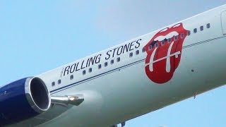 ✈ THE ROLLING STONES Leaving Hamburg | Germany in their Boeing 767-300