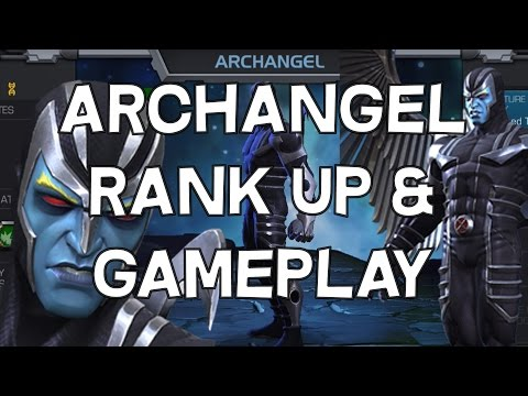Archangel Rank Up And Gameplay - Marvel Contest Of Champions